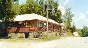 Le restaurant au lac Renaud dans les années 1970 qu'elle a rénové et opéré.