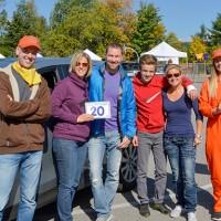 Les gagnants de la troisième place: Alain Brousseau, Julie Lessard, Jason Gauthier, Alexandre Goyette et Josée Rainville