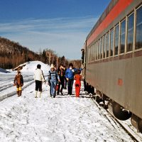 P'Tit Train du Nord, hiver 1978 – Photo : Diane Brault