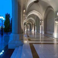 Mascate, voie d'accès au palais du Sultan d'Oman. Photo Diane Brault
