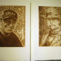 Depatie, à gauche, et Curtis, à droite, se rencontrent dans le cadre de cette exposition. – Photo : Emma Guerrero Dufour